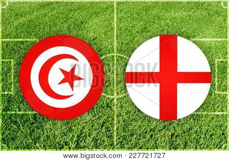 Illustration for Football match Tunis vs England