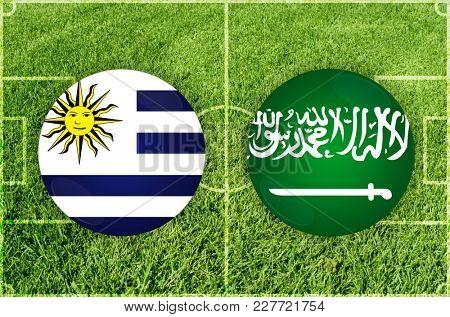 Illustration for Football match Uruguay vs Saudi Arabia