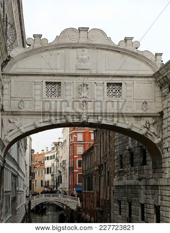 Venice Italy Bridge Of Sighs Is An Historical Building Called Ponte Dei Sospiri In Italian Language