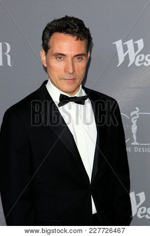 LOS ANGELES - FEB 20:  Rufus Sewell at the 20th Costume Designers Guild Awards at the Beverly Hilton Hotel on February 20, 2018 in Beverly Hills, CA
