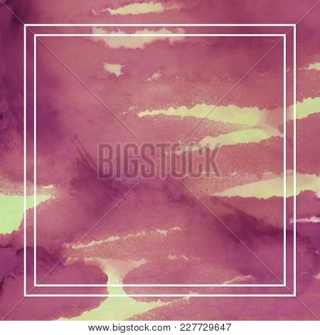 Painted Whimsical Background. Abstract Ink Painting Decoration For Poster Or Packaging. Watercolor P
