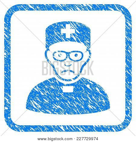 Monastic Doctor Rubber Seal Stamp Watermark. Icon Vector Symbol With Grunge Design And Dirty Texture