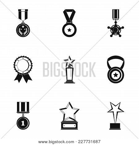 Portion icons set. Simple set of 9 portion vector icons for web isolated on white background poster