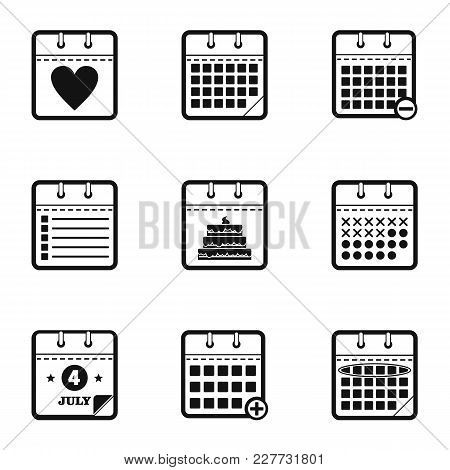 Chronology Icons Set. Simple Set Of 9 Chronology Vector Icons For Web Isolated On White Background