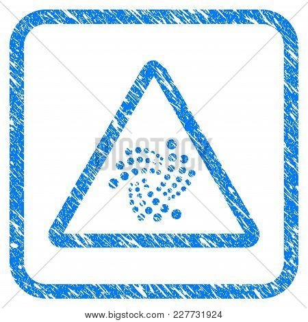 Iota Warning Rubber Seal Stamp Imitation. Icon Vector Symbol With Grunge Design And Dirty Texture In