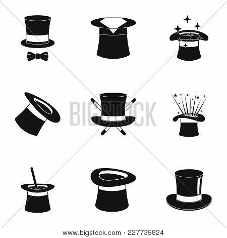 Bonnet Icons Set. Simple Set Of 9 Bonnet Vector Icons For Web Isolated On White Background