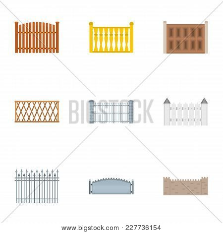 Enclosure Icons Set. Flat Set Of 9 Enclosure Vector Icons For Web Isolated On White Background