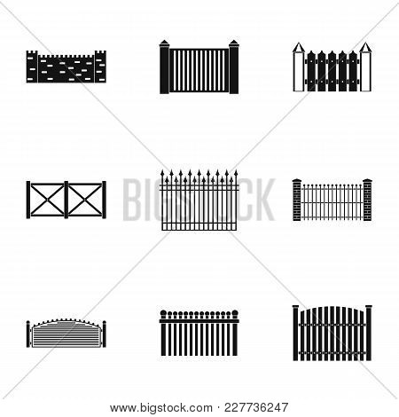 Door Icons Set. Simple Set Of 9 Door Vector Icons For Web Isolated On White Background