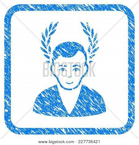 Man Glory Rubber Seal Stamp Imitation. Icon Vector Symbol With Grunge Design And Dirty Texture In Ro