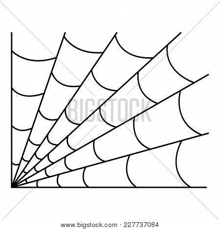 Gothic Spiderweb Icon. Outline Illustration Of Gothic Spiderweb Vector Icon For Web