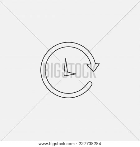 Clock Icon Vector Illustration. Timer Icon Vector.