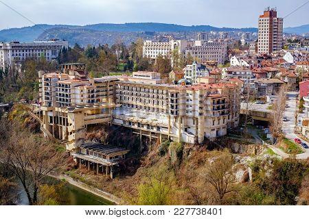 Building In Degradation. Veliko Tarnovo City, Bulgaria.