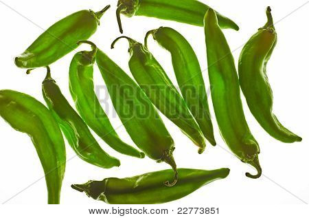 Green Hatch Chili Peppers
