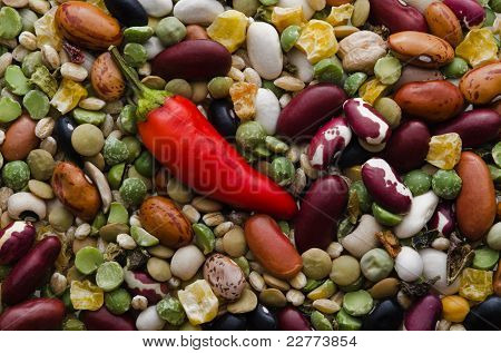 Bean Soup Mix With Hot Red Pepper