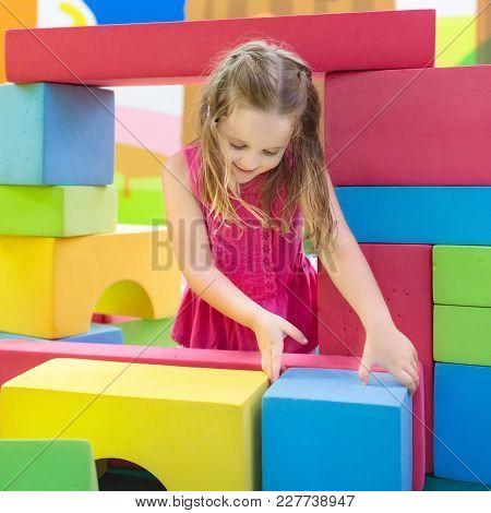 Kids Play. Construction Toy Blocks. Child Toys