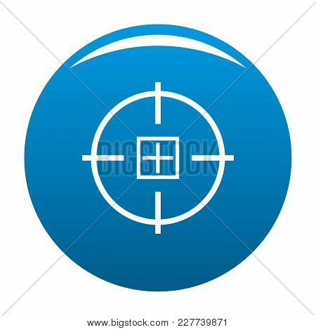 Optical Mission Icon Vector Blue Circle Isolated On White Background