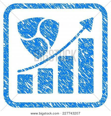 Nem Growth Chart Rubber Seal Stamp Imitation. Icon Vector Symbol With Grunge Design And Dust Texture