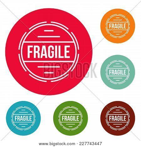 Fragile logo. Simple illustration of fragile vector logo for web poster