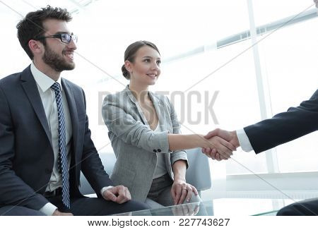 business lady meets her business partner