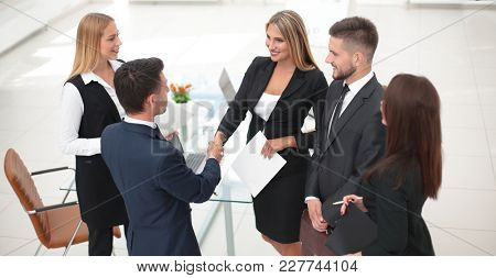 handshake Manager and the client after signing the contract
