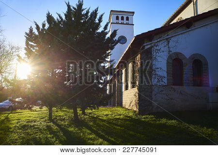 Eglise Sainte Anne Church Of Hendaye. Aquitaine, Pyrenees Atlantiques, France.