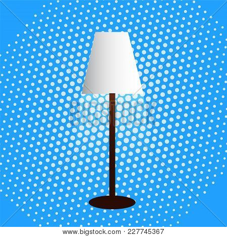 Floor Lamp Lampshade Diffused Light Dot Background