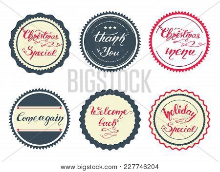 Vector Illustration With Graphic Elements And Lettering.