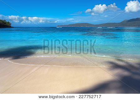 Caribbean Landscape Or Seascape. Perfect Beach With Blue Sea And White Sand