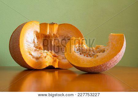 Cooking Pumpkin Porridge On The Kitchen Table