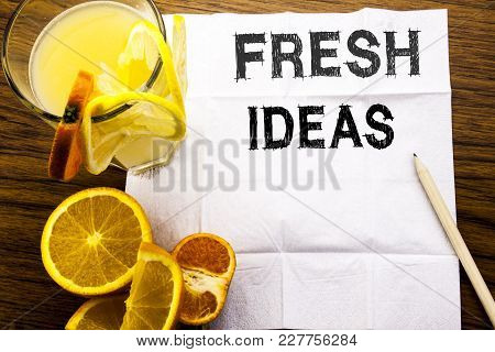 Conceptual Text Caption Showing Fresh Ideas. Concept For Thinking Inspiration Inspire Creativity Wri