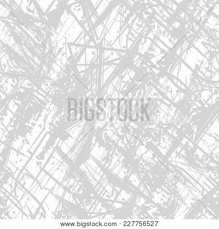 Seamless Gray Background. Grunge Seamless Pattern. Background Texture. Abstract Vector. Layer For Cr