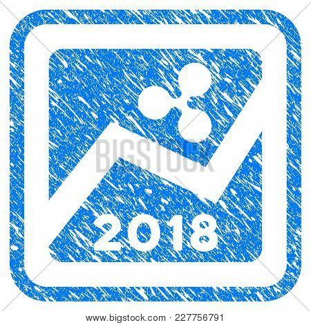 Ripple 2018 Exchange Market Rubber Seal Stamp Imitation. Icon Vector Symbol With Grunge Design And D