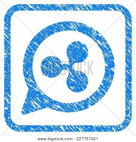 Ripple Chat Balloon Rubber Seal Stamp Watermark. Icon Vector Symbol With Grunge Design And Corrosion