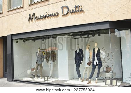 Toulouse, France - July 23, 2016: Storefront Of Massimo Dutti Fashion Store In The Centre Of The Cit