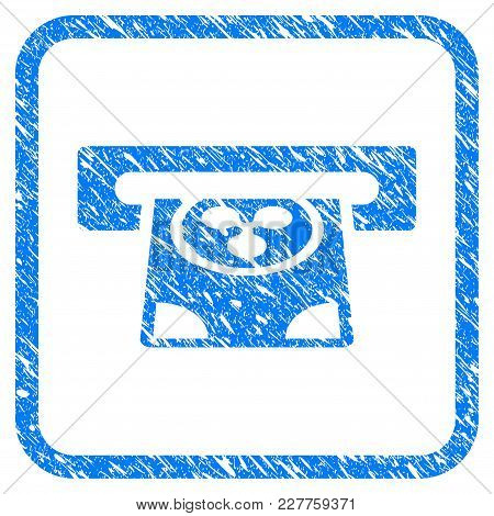 Ripple Card Terminal Rubber Seal Stamp Imitation. Icon Vector Symbol With Grunge Design And Unclean