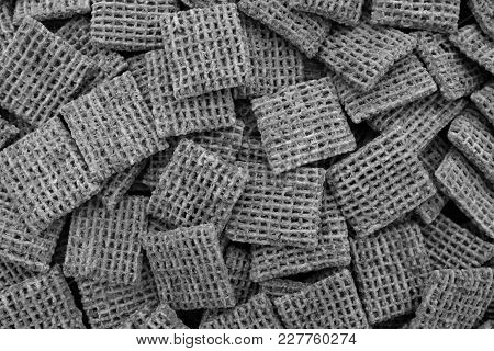 Malted Wheat Biscuits Breakfast Cereal Background