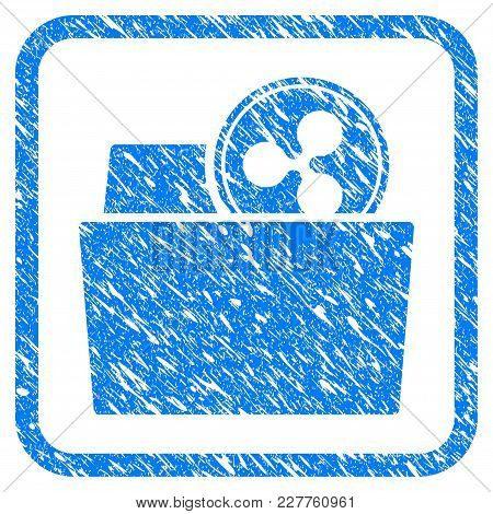 Ripple Folder Rubber Seal Stamp Watermark. Icon Vector Symbol With Grunge Design And Corrosion Textu