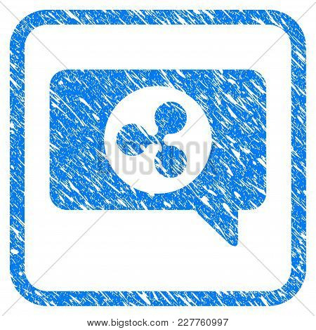 Ripple Message Cloud Rubber Seal Stamp Watermark. Icon Vector Symbol With Grunge Design And Dirty Te