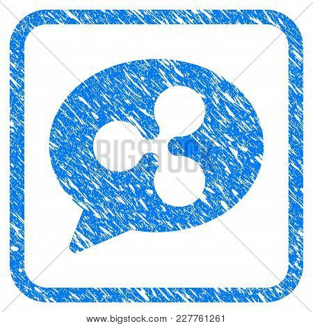 Ripple Chat Message Rubber Seal Stamp Watermark. Icon Vector Symbol With Grunge Design And Dust Text