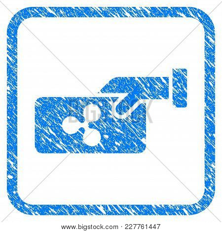 Ripple Payment Rubber Seal Stamp Watermark. Icon Vector Symbol With Grunge Design And Unclean Textur