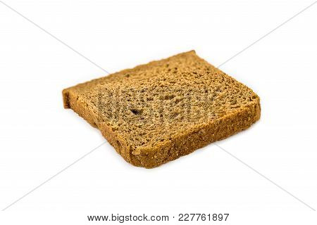 Isolated Bread Slice On The White Background