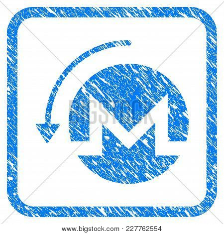 Refund Monero Rubber Seal Stamp Watermark. Icon Vector Symbol With Grunge Design And Dust Texture In