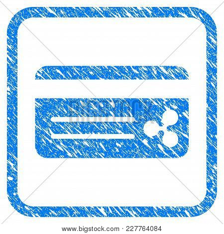 Ripple Bank Card Rubber Seal Stamp Watermark. Icon Vector Symbol With Grunge Design And Unclean Text
