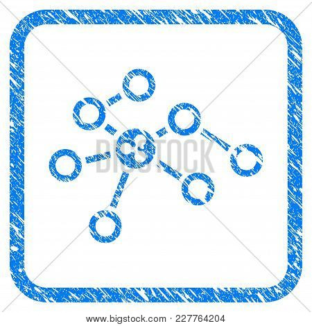 Ripple Network Nodes Rubber Seal Stamp Watermark. Icon Vector Symbol With Grunge Design And Corrosio