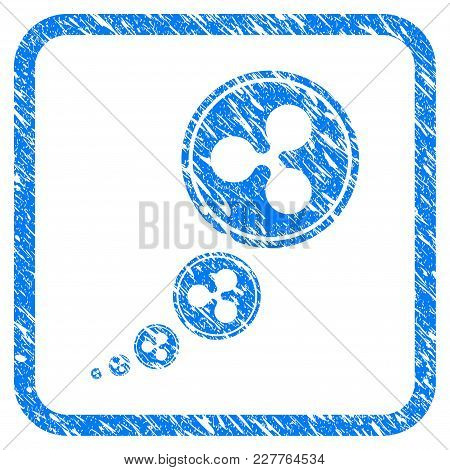 Ripple Inflation Rubber Seal Stamp Imitation. Icon Vector Symbol With Grunge Design And Unclean Text