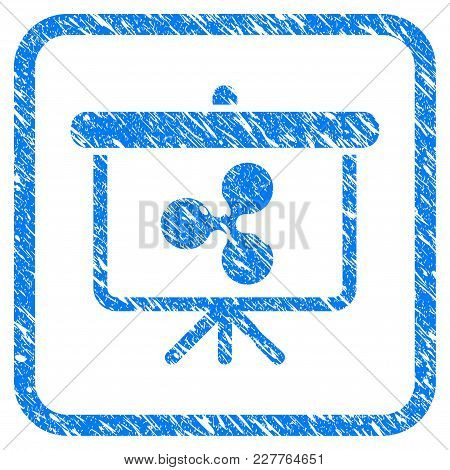 Ripple Presentation Board Rubber Seal Stamp Watermark. Icon Vector Symbol With Grunge Design And Dir