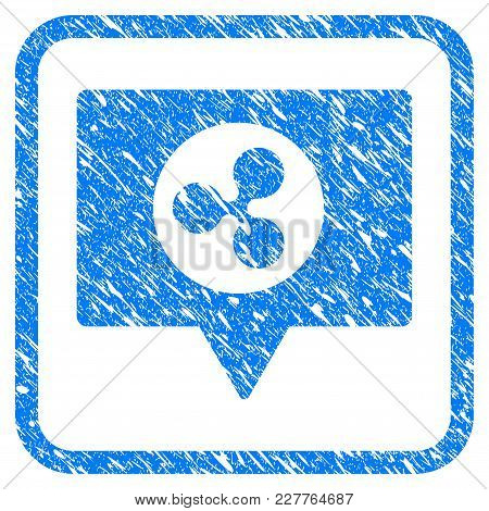 Ripple Banner Rubber Seal Stamp Watermark. Icon Vector Symbol With Grunge Design And Corrosion Textu