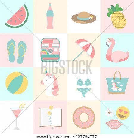 Illustration of summer lifestyle