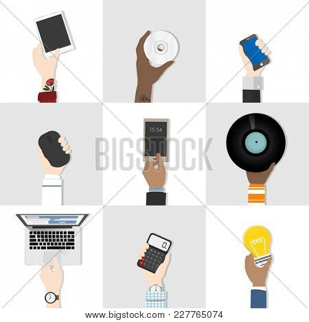 Collection of technology Illustration