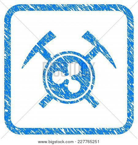 Ripple Mining Hammers Rubber Seal Stamp Watermark. Icon Vector Symbol With Grunge Design And Corrosi
